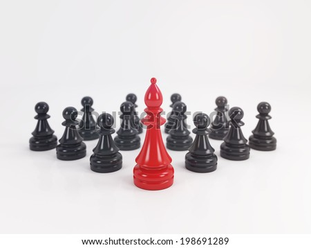 Leadership concept with chess