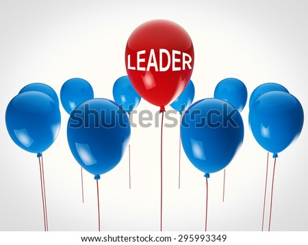 leadership concept with 3d rendered balloons - stock photo