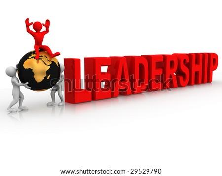 Leadership. 3d - stock photo