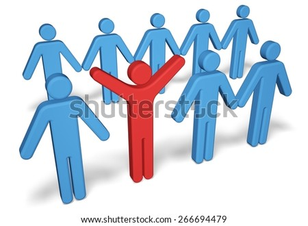 Leadership. 3D. Stand out - stock photo