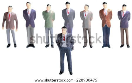 Leadership Figurine Concept Isolated on White Background - stock photo