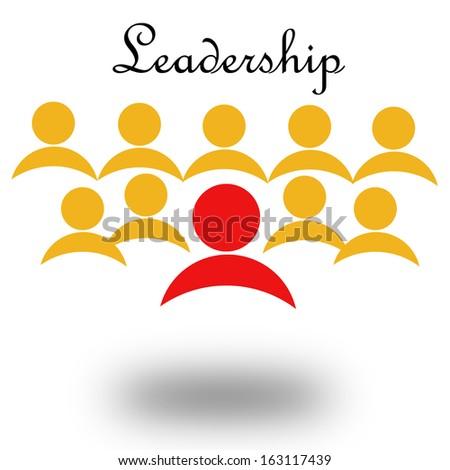 Leadership icon - stock photo