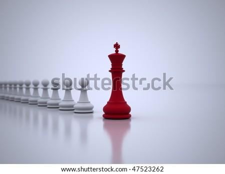 Leadership illustration - stock photo