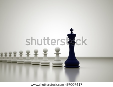 Leadership illustration - stock photo