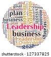 Leadership in word cloud - stock photo