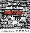 Leadership in word collage - stock photo