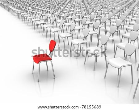 Leadership  -  Individuality Concept. - stock photo