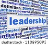 Leadership slogan poster design. Motivation message concept - stock photo