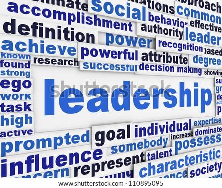 Leadership slogan poster design. Motivation message concept - stock photo