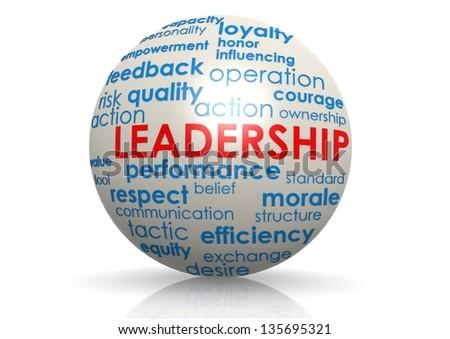 Leadership sphere - stock photo