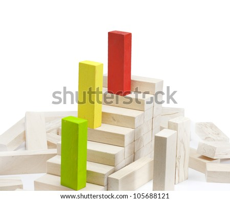 Leadership  team growth career abstract business concept - stock photo