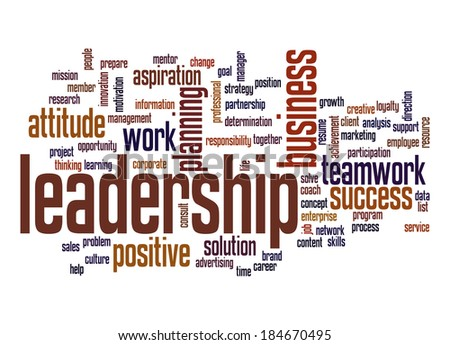 Leadership word cloud - stock photo