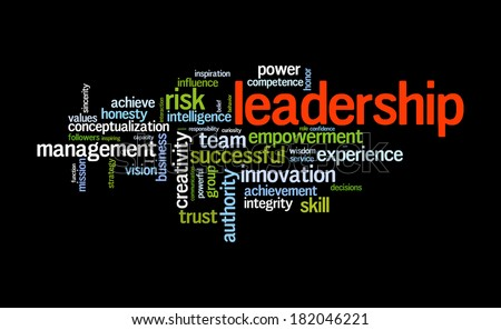 Leadership word cloud conceptual image - stock photo