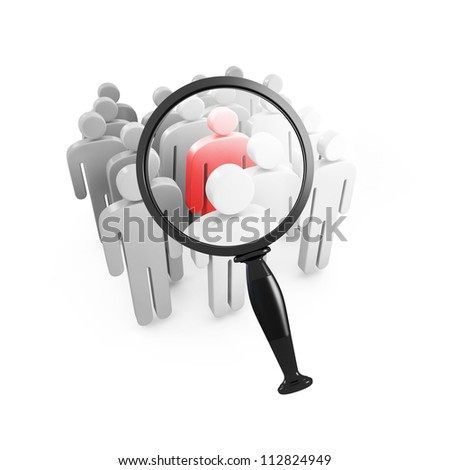 Leadership zooming concept - stock photo