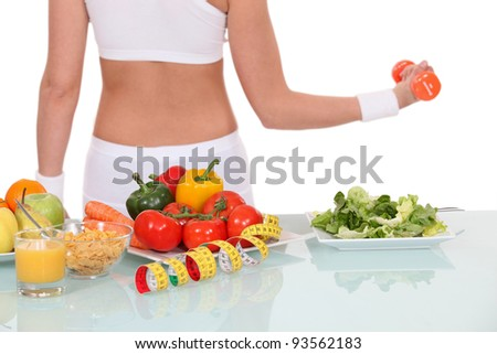 Leading a healthy lifestyle - stock photo