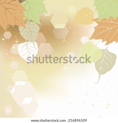 Leaf, autumn - background illustration - stock photo