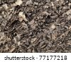 Leaf compost mulch pattern for background. - stock photo