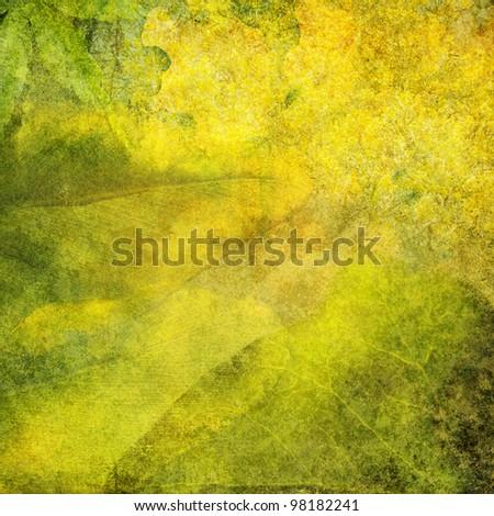 Leafy grunge background - stock photo