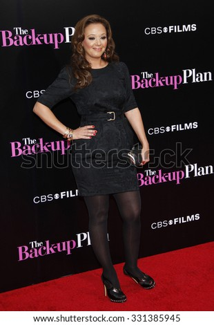 """Leah Remini at the Los Angeles premiere of """"The Back-Up Plan"""" held at the Westwood Village Theater in Hollywood, USA on April 21, 2010. - stock photo"""