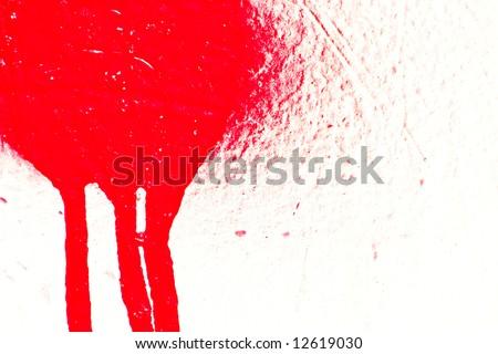 Leaking airbrush paint - stock photo