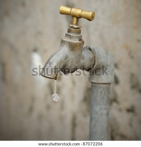 Leaking water - stock photo