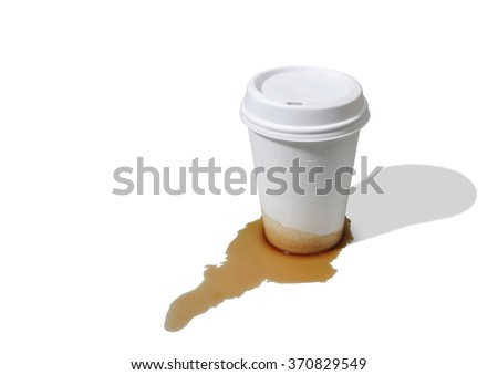 Leaky takeout coffee cup - stock photo