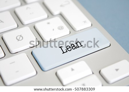 Lean written on a keyboard