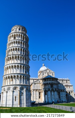 Leaning tower in Pisa, Italy