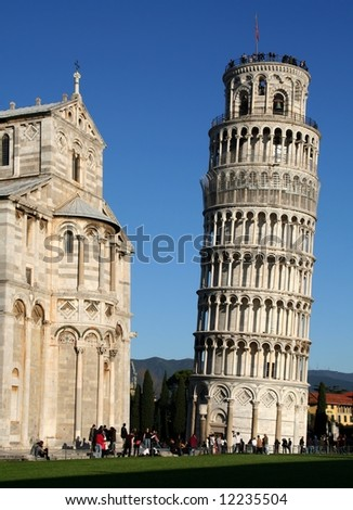 Leaning tower of Pisa - stock photo