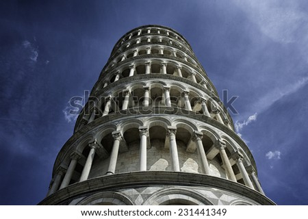 Leaning Tower of Pisa in Tuscany  - stock photo