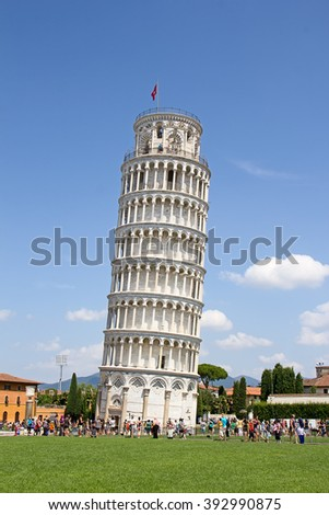 Leaning tower of Pisa, Italy - stock photo