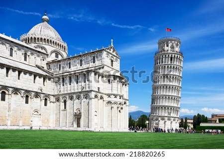 Leaning Tower, Pisa, Italy - stock photo