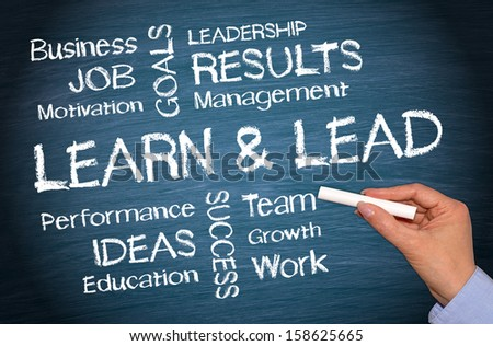 Learn and Lead - stock photo