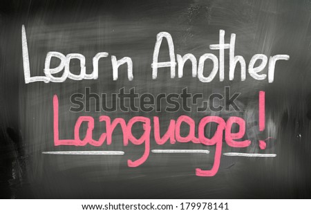 Learn Another Language Concept - stock photo