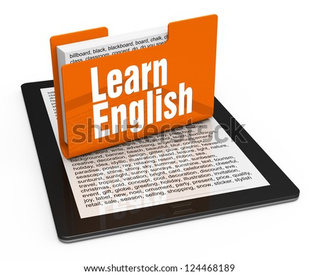 Learn english concept - stock photo