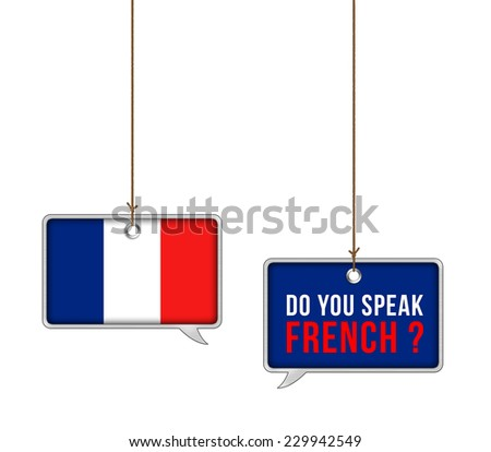 Learn French - illustration concept - stock photo