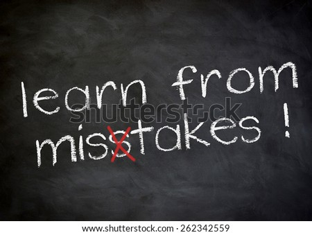 learn from mistakes - stock photo