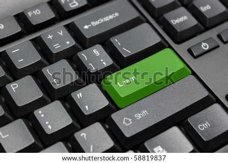 Learn key on computer keyboard - stock photo