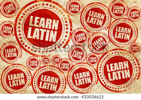 learn latin, red stamp on a grunge paper texture - stock photo