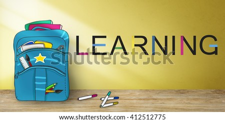 Learn Learning Education Knowledge Wisdom Studying Concept - stock photo