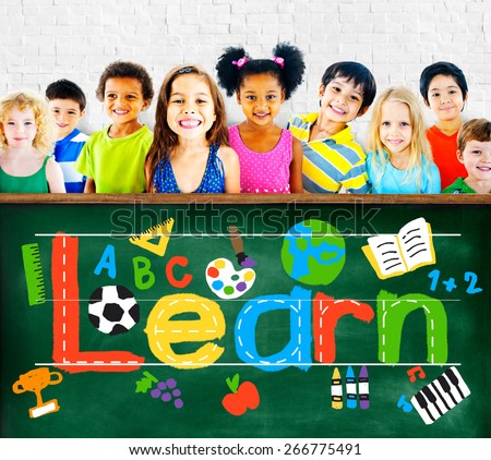 Learn Learning Study Knowledge School Child Concept - stock photo