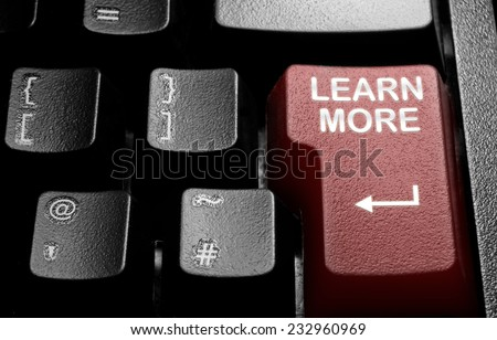 Learn more  - stock photo