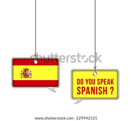 Learn Spanish - illustration concept - stock photo