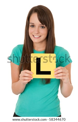 Learner driver - stock photo
