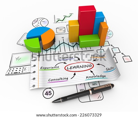Learning and development as a concept - stock photo