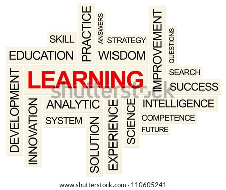Learning and related Concept . Created using PS. - stock photo