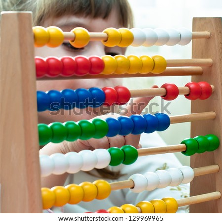 Learning arithmetic - stock photo