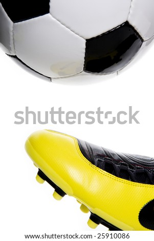 Learning ball control - stock photo