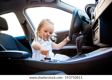 learning car school for little children - stock photo