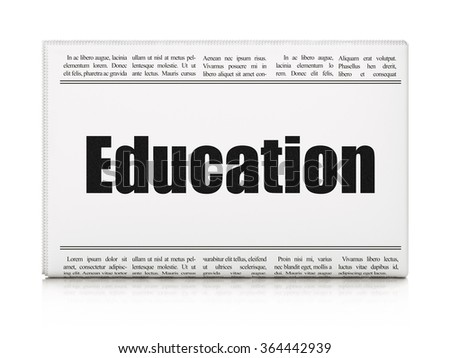 Learning concept: newspaper headline Education - stock photo